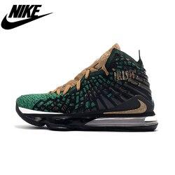 Nike Lebron 17 L'avenir D'air Empeigne Tissée Coussin D'air Chaussures de Basketball Pour Hommes Chaussures