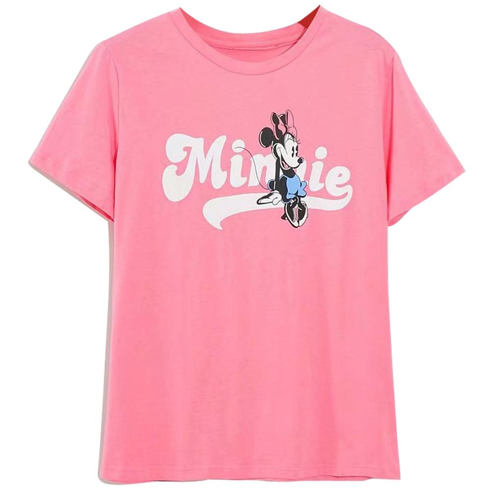 H7033e2acb8114524b40b35846742c75c0 Disney Family T-Shirt Fashion Winnie the Pooh Mickey Mouse Stitch Fairy Dumbo SIMBA Cartoon Print Women T-Shirt Cotton Tee s