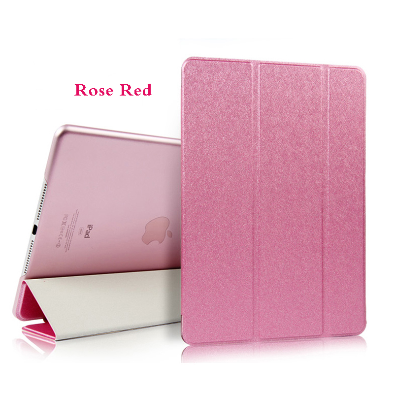 Rose Red Red Tablet Case For iPad Air 4 10 9 2020 PU Leather Tri fold Cover For iPad