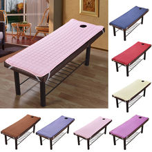 Bed-Sheet Couch Massage-Table Polyester for Relaxation Forepart-Hole Bedding Article