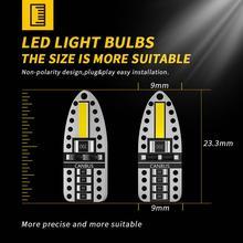 10шт W5W и лампа T10 светодиодные лампы Canbus светодиодные лампы сигнальные огни света купола номерного знака свет белый 6000K габаритные огни