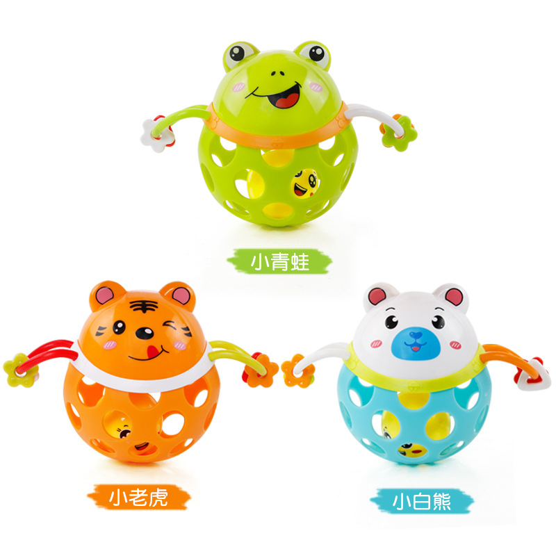 Infant Finger Rattle Ball Infants Teaching Aids Rattle Educational Fitness Glue Ball Five-color Tinkie BAII Baby Toy