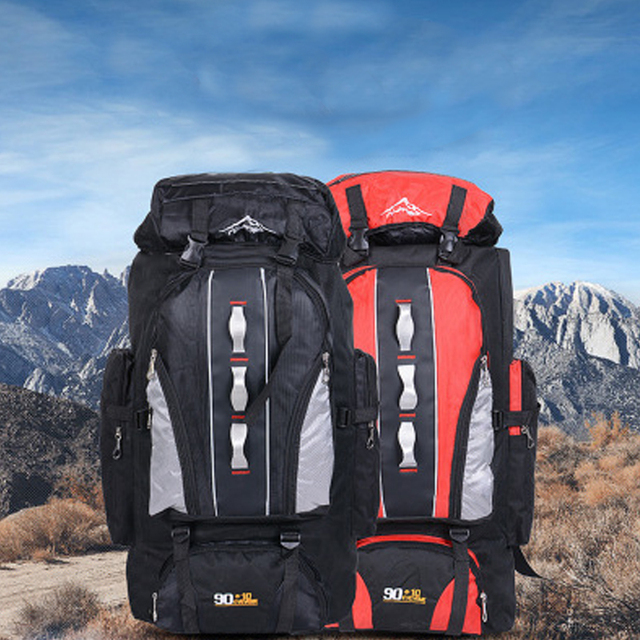 100L Large Capacity Outdoor Sports Backpack Men and Women Travel Bag Hiking Camping Climbing Fishing Bags waterproof Backpacks 5