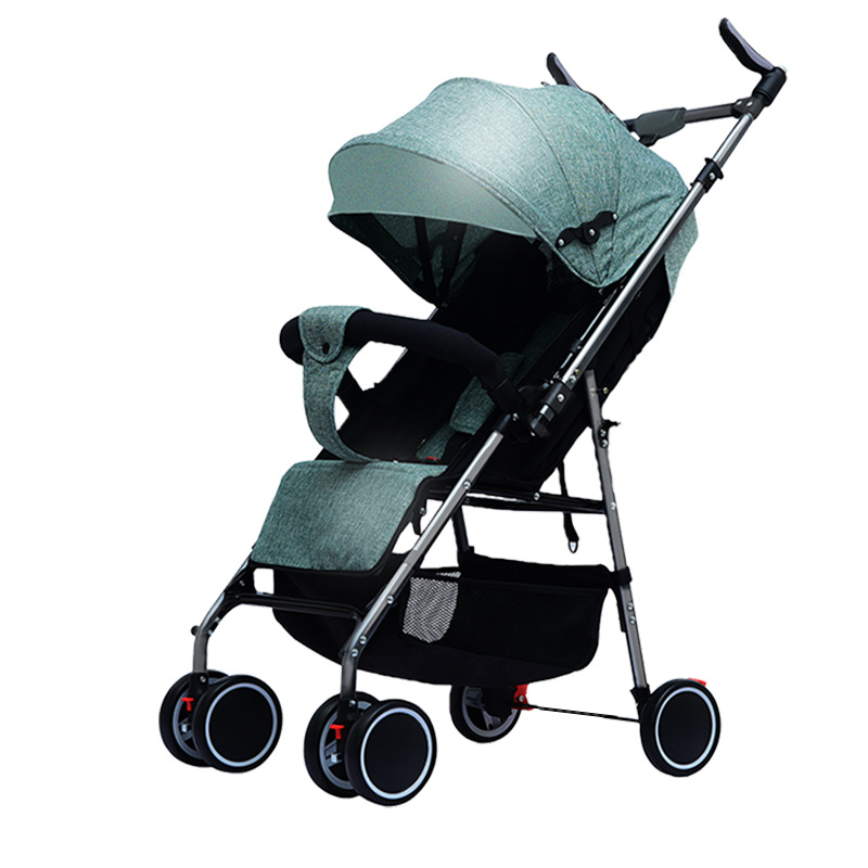 Baby Strollers Foldable Shock-absorb Simple Umbrella for Babies Stroller Can Sit and Lie Light Two-way Trolley Baby Pushchair