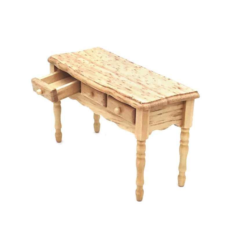 Simulation Miniature Wooden Furniture Toy Dollhouse Desk Model Doll House Room Decoration for Kids