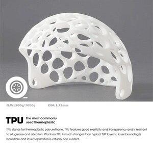 Image 3 - 3D Filamenti di Stampa Filamento TPU Flessibile di TPU filamento di Plastica per 3D Stampante 1.75 millimetri Materiali di Stampa bianco Nero ecc Colori
