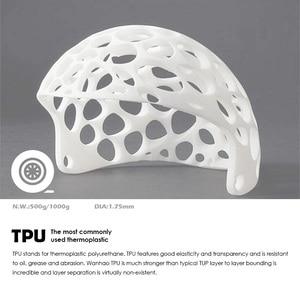 Image 3 - 3D Printing Filament TPU Flexible Filaments TPU filament Plastic for 3D Printer 1.75mm Printing Materials white Black etc Colors