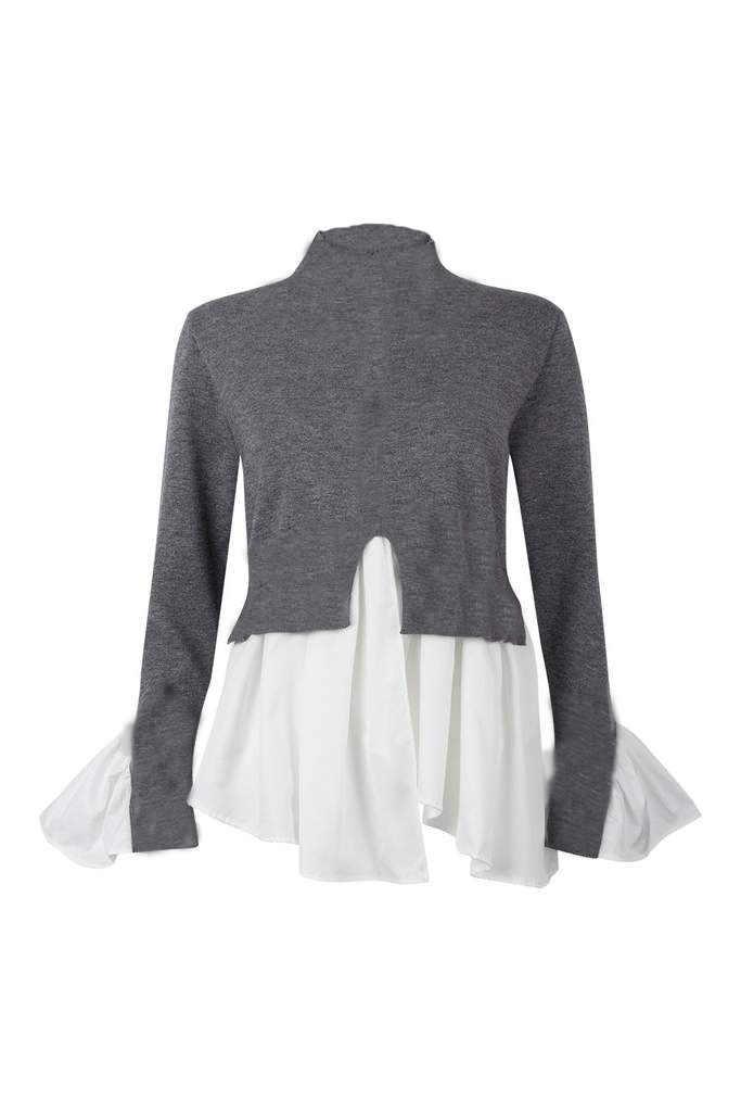 Femmes dames col rond T-shirt chemise mode col de tortue hauts vêtements charme automne décontracté