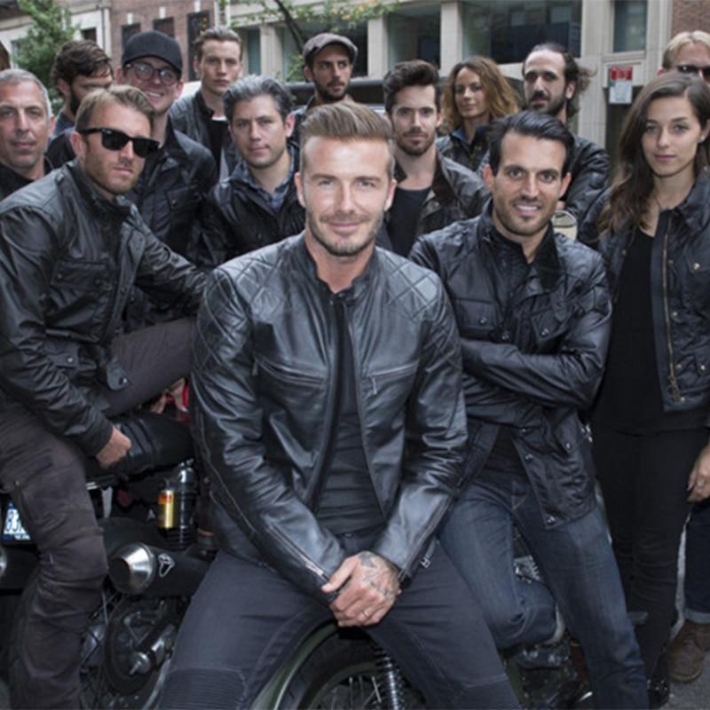 Genuine Leather Jacket Men's Fall Fashion Slim Real Cowhide Leather Black Short Mens Motorcycle Jackets Sleeve 61cm-67cm