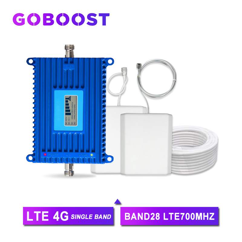 Repeater 4G Cellular Signal Booster Cellpnhone Amplifier Kit 70dB High Gain Band28 700mhz Repeater 4G Signal Network AGC Antenna