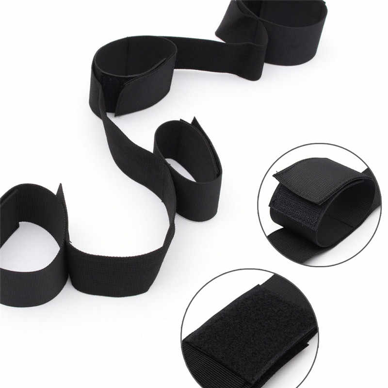 1PC Leg Handcuffs Restraint Bondage Belt Wrist Ankle Hand Cuffs For Men Women Erotic Sex Toy Adult Party Cosplay Game Tool