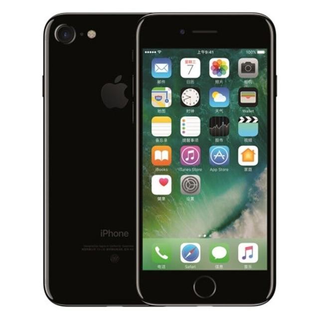 Разблокированный смартфон Apple iPhone 7 4G LTE 4,7 дюймов Apple A10 IOS 12,0 МП камера отпечатков пальцев 32 ГБ/128 ГБ/256 ГБ rom смартфоны - Цвет: Jet Black