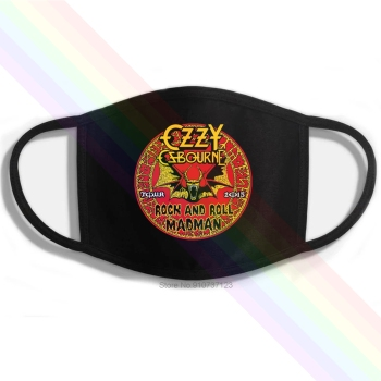 Ozzy Osbourne Rock And Roll Madman Logo Printing Washable Breathable Reusable Cotton Mouth Mask image
