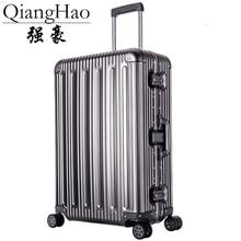 "20 ""25"" 29 ""calowy 100% stopu Aluminium walizka bagażowa podróży wózek Rolling Spinner Hardside Carry On walizka bagażowa"