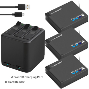 Image 1 - 3 個 Insta360 のための 1 × 充電式バッテリーパック + スマートディスプレイ充電器 Insta360 One X カメラアクセサリー