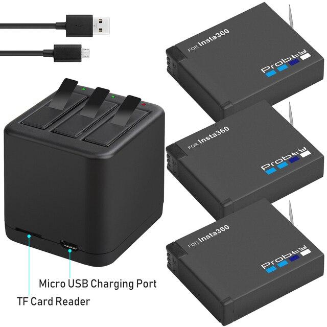 3 個 Insta360 のための 1 × 充電式バッテリーパック + スマートディスプレイ充電器 Insta360 One X カメラアクセサリー