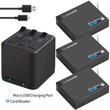 3 peças para insta360 um x bateria recarregável + carregador de exibição inteligente para insta360 um x câmera acessórios