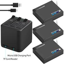 3PCS עבור Insta360 אחד X נטענת סוללה + חכם תצוגת מטען עבור Insta360 אחד X מצלמה אבזרים