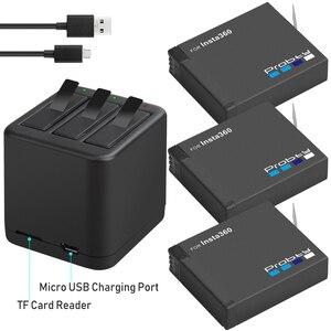 Image 1 - 3PCS für Insta360 ONE X akku + smart display ladegerät für Insta360 One X kamera zubehör