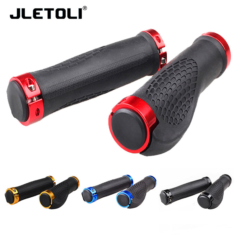 JLETOLI Mountain Bike Handlebar Grips Non-slip Smooth Soft Rubber Road Bike Cycling Grips Handles For Bicycles Parts