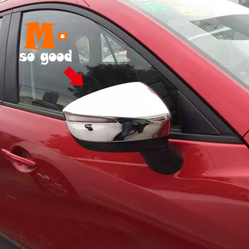 2016 2017 2018 For <font><b>Mazda</b></font> CX-3 <font><b>CX3</b></font> Car ABS Chrome Rearview mirror Cover trim Car exterior styling <font><b>Accessories</b></font> Stickers 2 pcs/set image