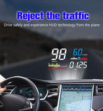 Автомобильный дисплей на лобовое стекло wiiyii hud d5000 скоростной