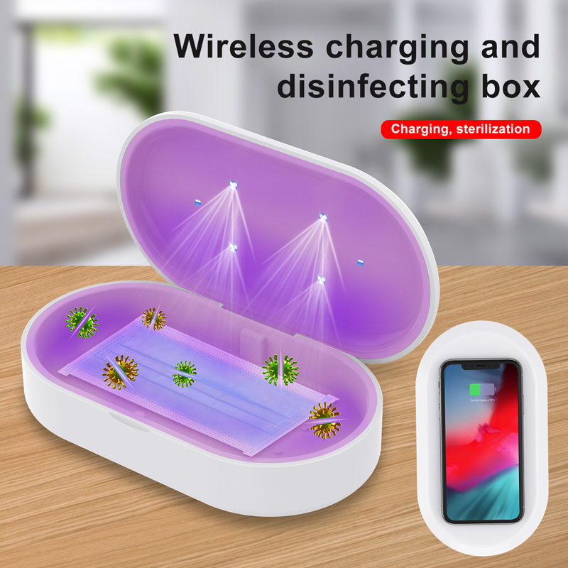 Lovebay UV Sterilization Box Phone Wireless Charger Fast Charging Disinfection Lamp Multifunctional Storage Organizer Charger