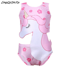 Baby girl Unicorn clothes one piece girls dress unicorn bathing suit swimming costume 03101