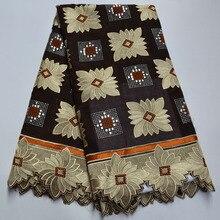 Новое поступление, кружевная ткань с блестками в африканском стиле, высокое качество, швейцарская вуаль, кружево в швейцарском стиле, 100% хло...