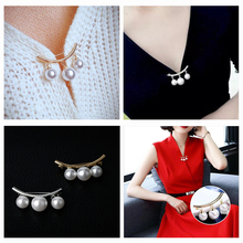 Women Brooch Fashion Pearl Pendant Brooches Pin Jewelry Safe-pin Design Cute Scarf Sweater Cardigan Lapel Pins Jewelry cindy xiang rhinestone large pin brooches for women vintgae sweater pin fashion design wedding brooch high quality new 2020