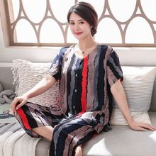 Sleepwear Cotton Pyjamas Thin Floral Loose Female Plus-Size Casual Women Summer 3XL New-Arrival