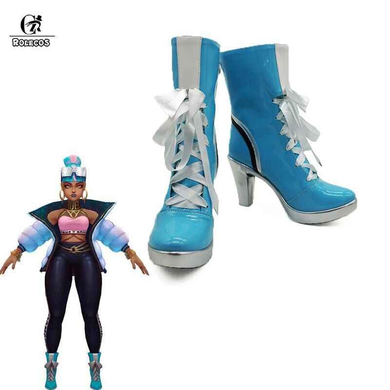 ROLECOS/Обувь для костюмированной вечеринки «Qiyana»; обувь на высоком каблуке; женская обувь «LOL Game»; Женская обувь в европейском стиле