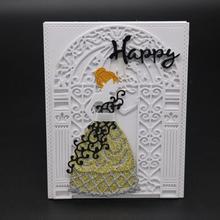 ZhuoAng Beautiful wedding dress Cutting/DIY Paper Card Craft Embossing Die Cut DIY scrapbooking cutting machine