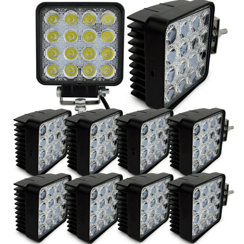 1PC 48W LED Road Work Light Lamp 12V 24V Car Boat Truck Driving