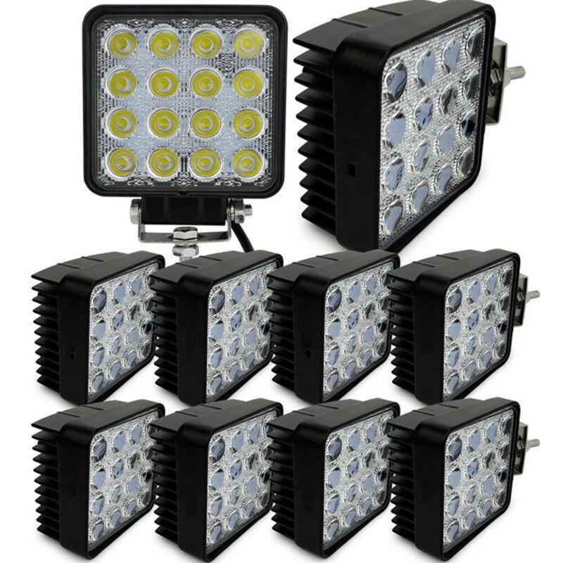 1PC 48W LED Road Work Light Lamp 12V 24V Car Boat Truck Driving