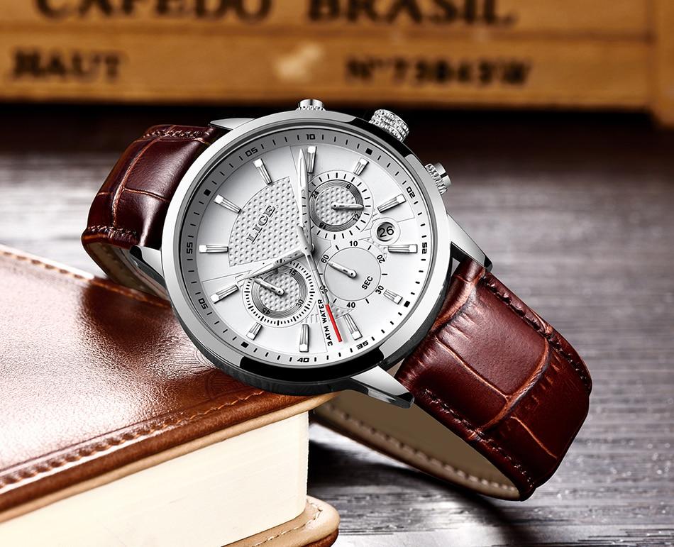 H703526c6c1d54eb887c105aff2f20dacN LIGE 2020 New Watch Men Fashion Sport Quartz Clock Mens Watches Brand Luxury Leather Business Waterproof Watch Relogio Masculino