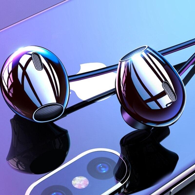 KISSCASE Volume Control Wired Earphone Headphones 3.5mm With Mic Music Stereo Bass Headset For Samsung Xiaomi Earphone Headphone