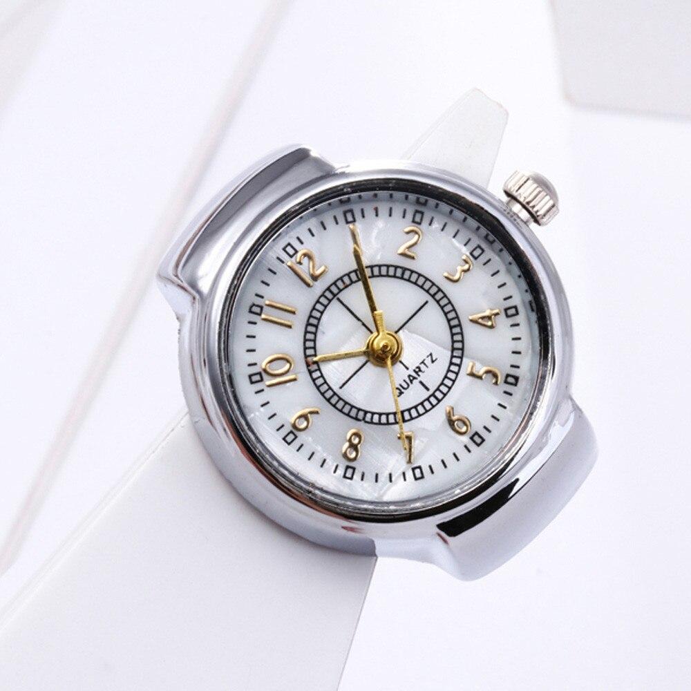 Fashion Luxury Dial Quartz Analog Watch Creative Steel Cool Elastic Quartz Finger Ring Watch Relogio Masculino часы мужские