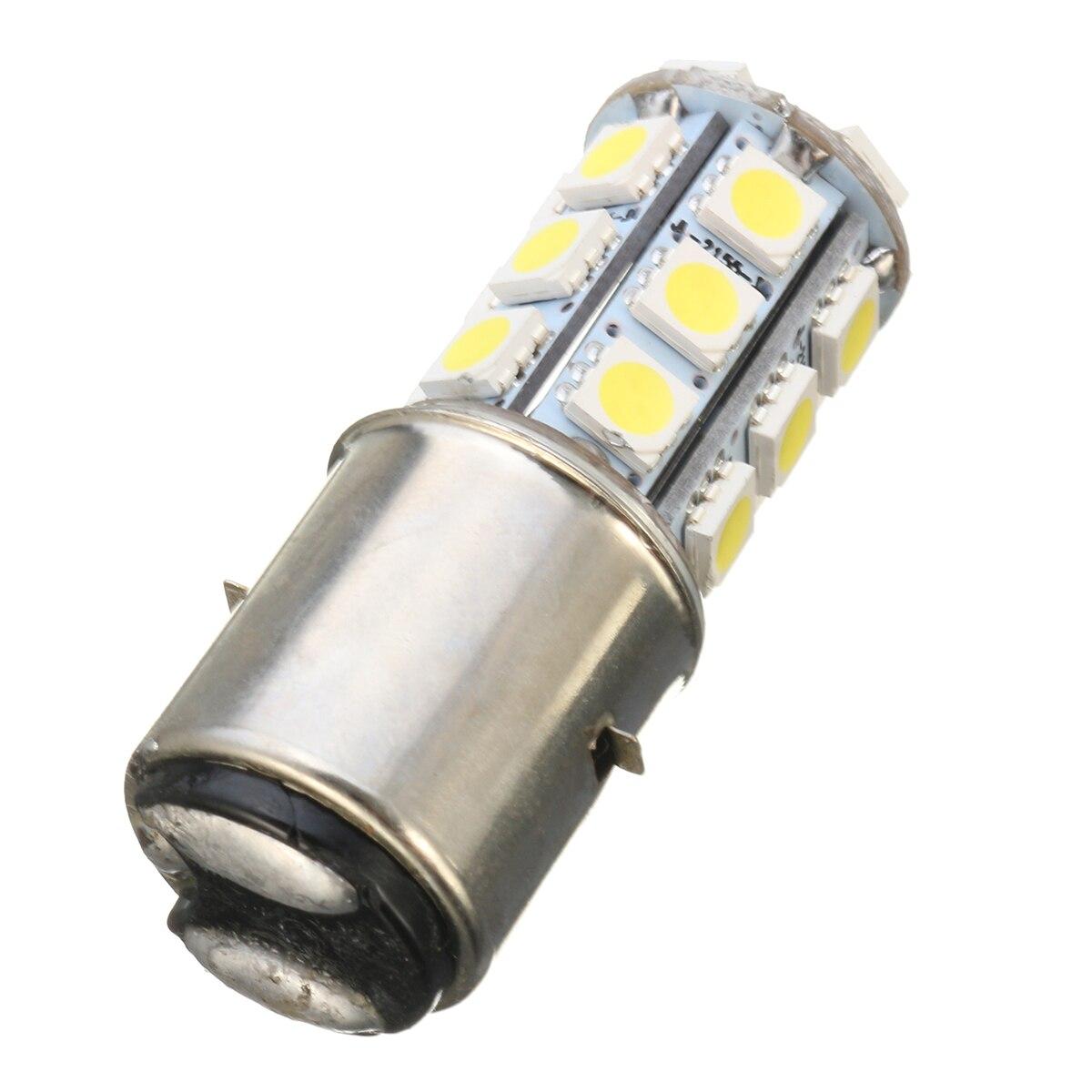 BA20D 12V H6 24 LED SMD Motorcycle Moped ATV PIT Headlight Bulb 6000K Motorbike Front Passing Light