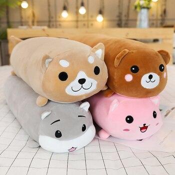 Lange Tiere Plüsch Spielzeug Gefüllte Squishy Tier Bolster Kissen Hund Katze Shiba Inu Plushie Spielzeug Schlafen Freund Geschenk für Kind kinder