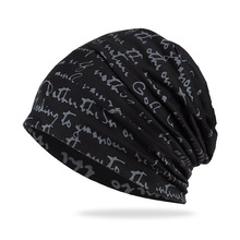 Hip Hop Letter Headgear Piled Baotou Hat Thin Section Breathable Spring and Autumn Women TurbanHat Cap Men Gift