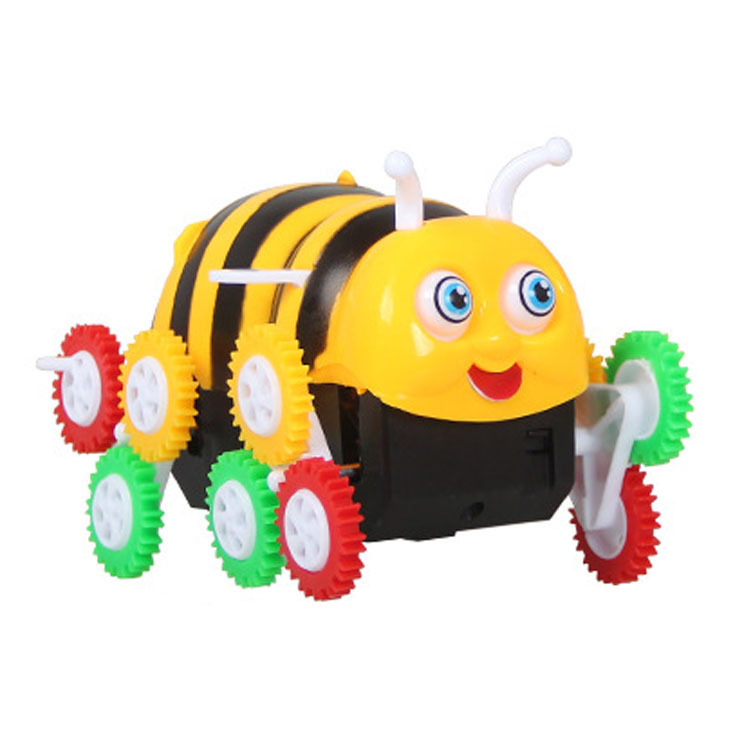 Children Bees Car Electric Toy Car Cai Lun Automatic Flipping Sounding Toys Boxed Small Bees Dump Truck