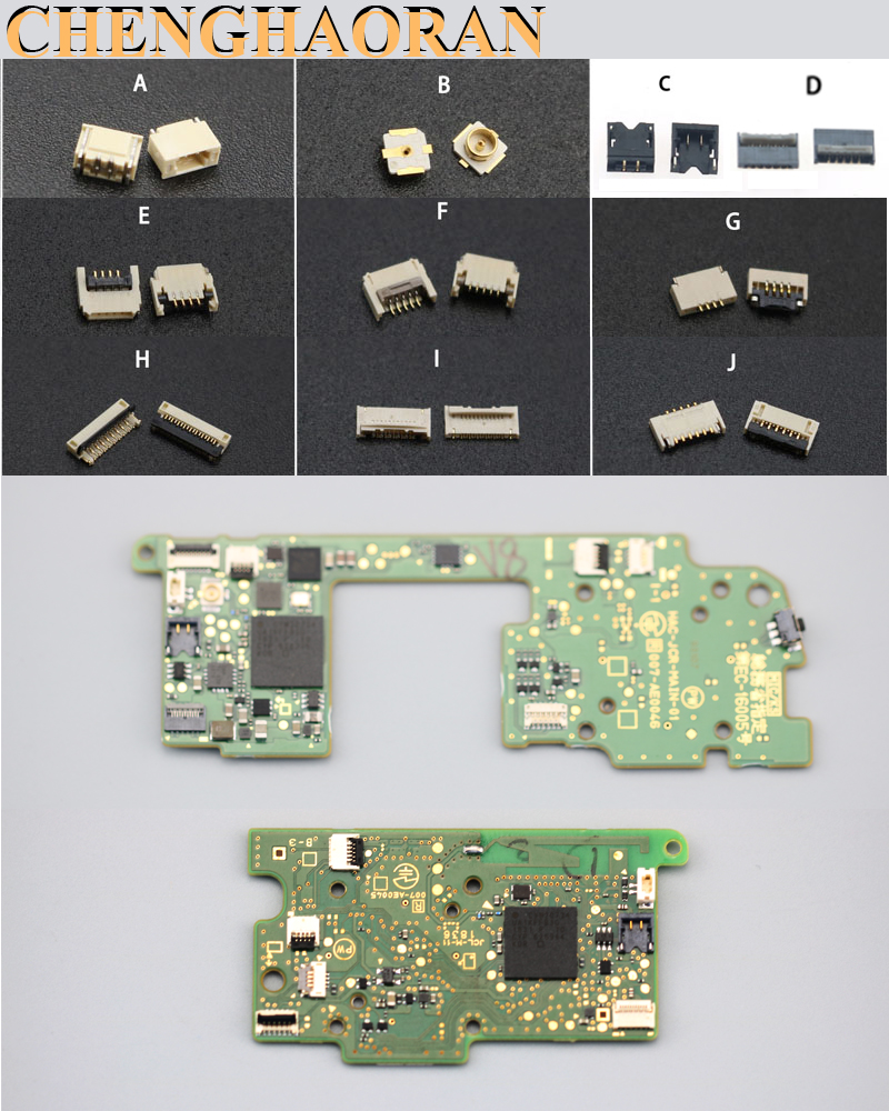 Piezas de reparación importadas para Nintendo Switch JOY-CON, controlador de placa de circuito impreso, piezas FPC, conector y Micro interruptor, botones joy con 10 piezas