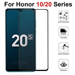 Image 2 - Vetro di protezione Honor 10 di Vetro Temperato per Huawei Honor 20S 10i Protezione Dello Schermo Pellicola di Sicurezza Honer 20Lite honor10 Honor20S