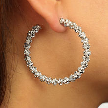 Personality Big Earrings Prickly Round Geometric Hoop Earrings for Women Trendy Korean Circle Earring Fashion Jewelry Oorbellen