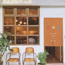 Японский маленький цветок кухня подвесные двери занавески льняная