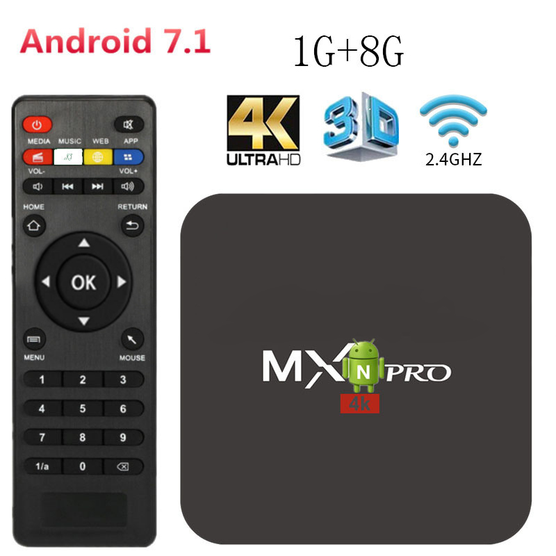 <font><b>4K</b></font> Media Player Android <font><b>tv</b></font> <font><b>box</b></font> Android 7.1 Smart <font><b>tv</b></font> Google Voice Assistant Netflix Youtube Player 2.4g WiFi 1GB 8GB Set Top <font><b>Box</b></font> image