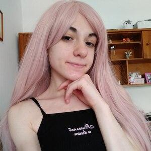 Image 2 - Ebingoo New Fujiwara Chika Wig Kaguya sama Love is War Long Light Pink Natural Wave Synthetic Cosplay Wig For Girls Women
