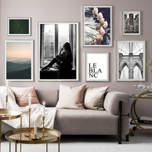 Flower Nordic Architecture Mountain Landscape Wall Art Canvas Painting Posters And Prints Pictures For Living Room