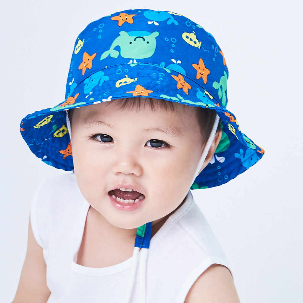 Baby Boys Girls Summer Sun Protection Hat Sunscreen Cap Hat Fisherman's Hat Casual Children Sun Hat Cotton Girls Hat Caps